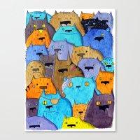 The Cats Of Verdun Canvas Print