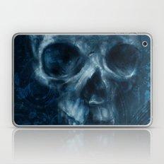 Blue Skull Waves Laptop & iPad Skin