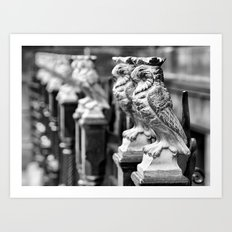 Leeds Owls Art Print
