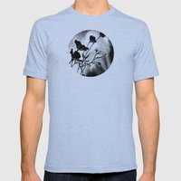 Effervescence -- Poppies Mens Fitted Tee Tri-Blue SMALL