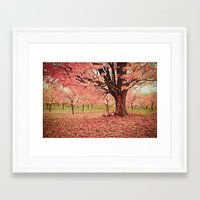 Wind and Leaves Framed Art Print