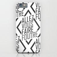 iPhone & iPod Case featuring Allez Vous Faire Foutre by Victor Castro