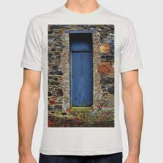 The Blue Door of Ballymascanlon Mens Fitted Tee Silver SMALL