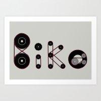 Bike Gear Art Print