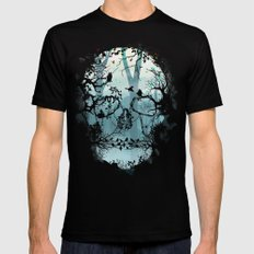Dark Forest Skull SMALL Mens Fitted Tee Black