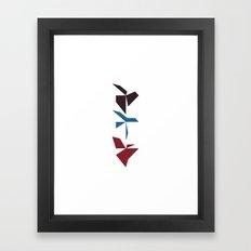 #284 Dragons dancing – Geometry Daily Framed Art Print
