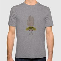 Spooky High Five Mens Fitted Tee Athletic Grey SMALL