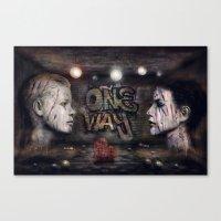 One Way ! Canvas Print