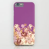 iPhone Cases featuring floral decor on purplish pink by clemm