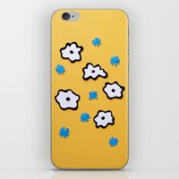 Dutch Flowers on Yellow iPhone & iPod Skin