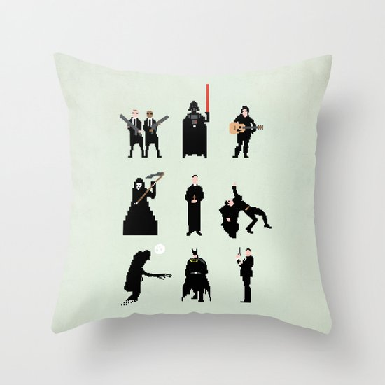 Men in Black Throw Pillow