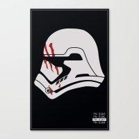 Finn Stormtrooper Profile Canvas Print