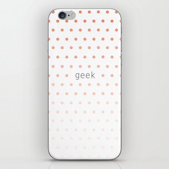 I'm a geek and I love polka dots iPhone & iPod Skin