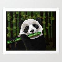 Panda Artjam Art Print
