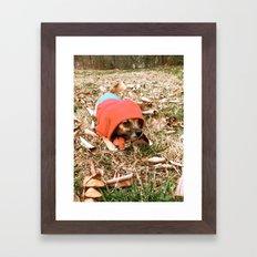 Tough Puppy Framed Art Print