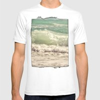 Making Waves Mens Fitted Tee White SMALL