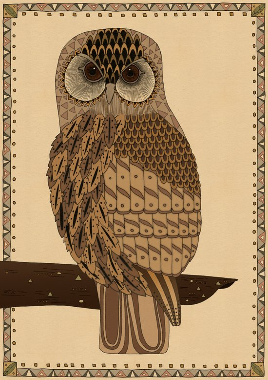 The Laughing Owl Art Print