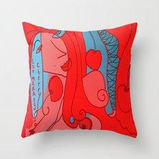 Luv Maraschino Cherry Throw Pillow