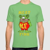 Meat Fink Mens Fitted Tee Grass SMALL
