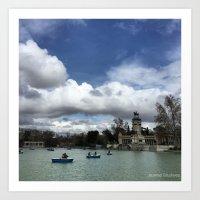 Retiro Park Madrid Art Print