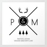 Panther & Mishka Logo Art Print