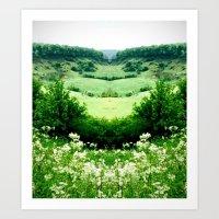 Cow Parsley Valley Art Print