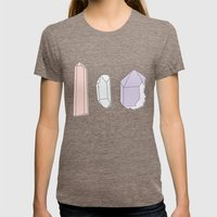 Crystals Trio Womens Fitted Tee Tri-Coffee SMALL
