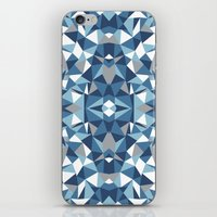 Abstract Collide Blues iPhone & iPod Skin