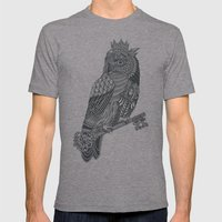 Owl King Mens Fitted Tee Athletic Grey SMALL