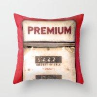 Old Premiums Throw Pillow