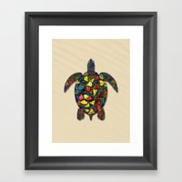 Animal Mosaic - The Turt… Framed Art Print