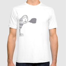 (A Wuggie) Mens Fitted Tee SMALL White
