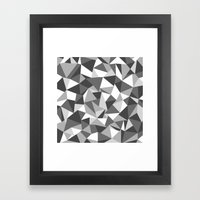 Abstraction Black And Wh… Framed Art Print