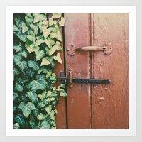 Ivy's Door Art Print