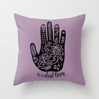 Life and Love Throw Pillow
