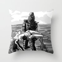 Black Lagoon (B&W)... Throw Pillow