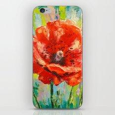 Blooming poppy iPhone & iPod Skin