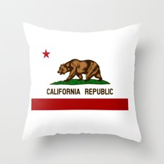 California's flag Throw Pillow