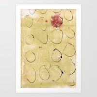 Lines And Texture 3 Art Print