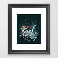 Cyberpunk Beat Down Framed Art Print