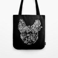 Botanical Frenchie Tote Bag