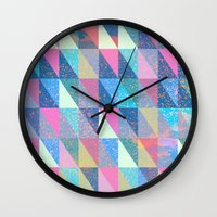 Candy Triangles Wall Clock