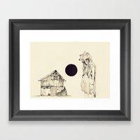 Mujer Loba Framed Art Print