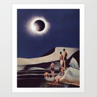 Art Print featuring SOLAR ECLIPSE by Beth Hoeckel Collage…