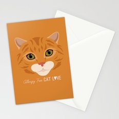 Allergy Free Cat Love: Ginger Tabby Stationery Cards