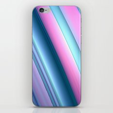 Blue and Pink Swoosh iPhone & iPod Skin