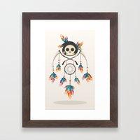 Angel de la Muerte Framed Art Print