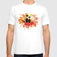 FlowerCats Mens Fitted Tee White SMALL