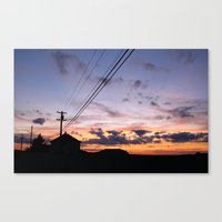 Hampton Beach Sunset Canvas Print