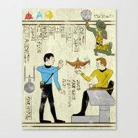 Hero-glyphics: Prime Dir… Canvas Print